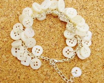 Wedding Belle Upcycled Button Bracelet