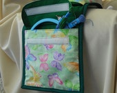 Green Butterflies Armchair Sewing Caddy  Hand Sewing Organizer