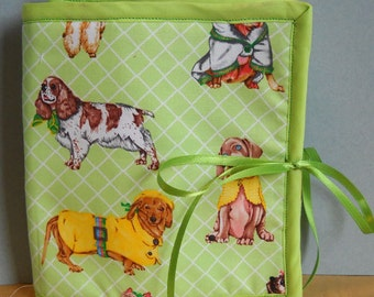 Lime Dogs Armchair Sewing Caddy, Hand Sewing Organizer