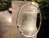 SALE - 20% off- Rustic Hoops - sterling silver handmade organic hoops