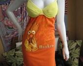 Muppets Beaker t shirt bikini dress with hemp stitching