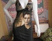 Twilight Edward t shirt bikini dress with hemp stitching