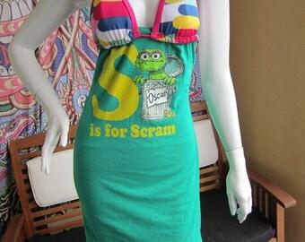 Oscar the Grouch t shirt bikini dress