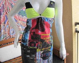 Trippy Urban t shirt bikini dress