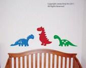 Dinosaur Sticker Decals - T Rex Brontosaurus Kids Vinyl Wall Art