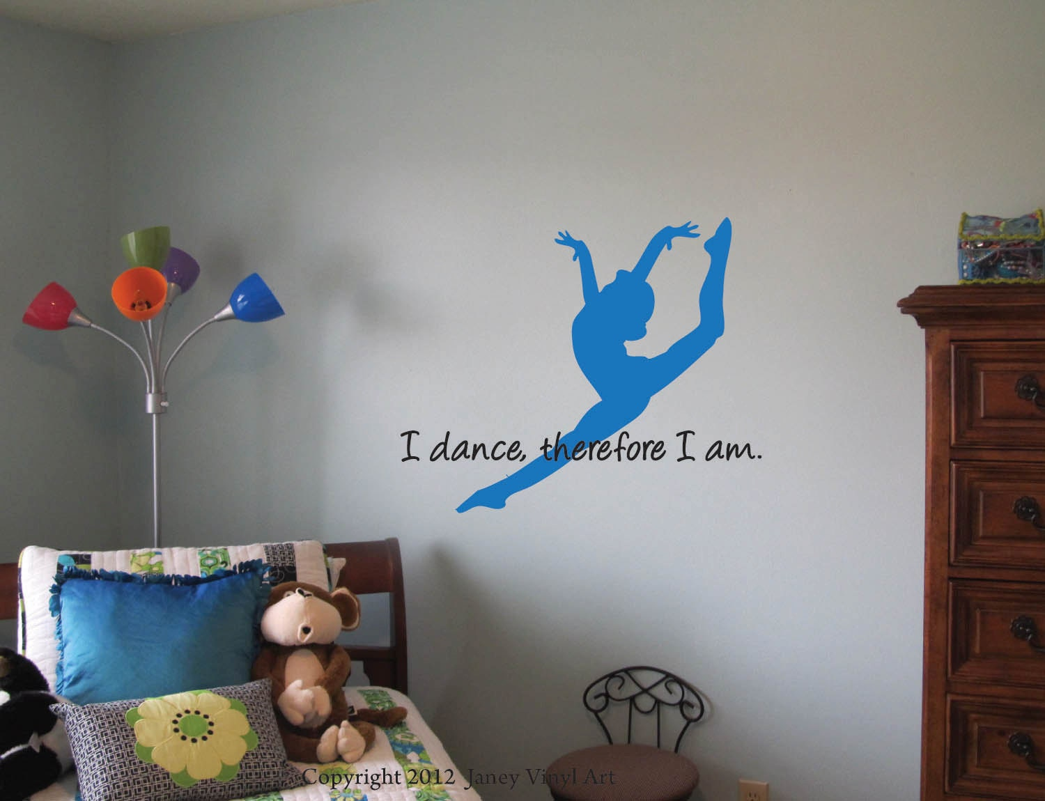 gymnastics dance quote decal girls bedroom decal by