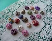 YoYos, 50 YoYos, tiny 5/8 inch YoYos, Handmade, Miniature Quilts, Scrapbooking, Sewing Supplies, Craft Supplies, Fabric YoYos, Embellishment