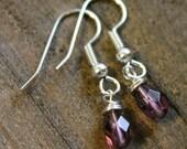 Birthstone earrings Amethyst February