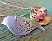 Mama bird necklace