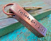 XL Copper Bar - personalized keychain