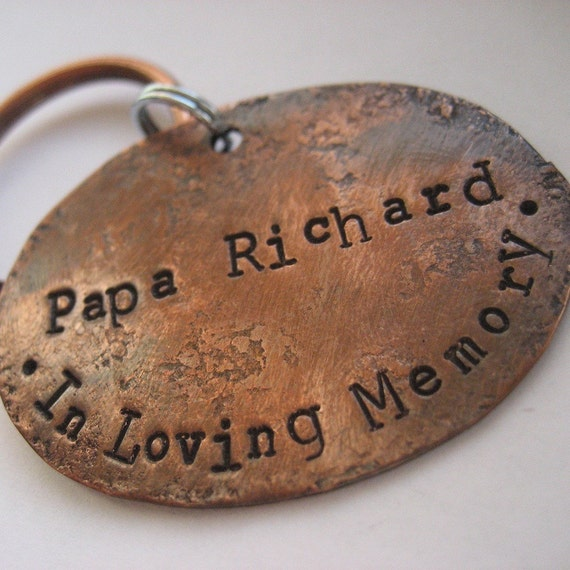 In Loving Memory - Oval Copper Keychain