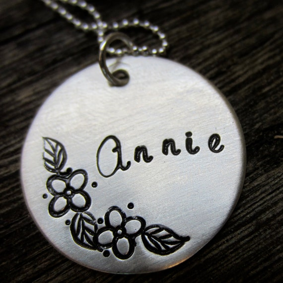 Flowers for Annie - personalized sterling silver necklace