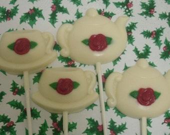 Teapot and Teacup Lollipops