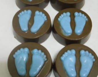 Chocolate Covered Regular Oreos Baby Boy or Girl Feet