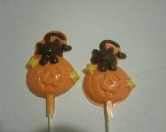 Pumpkin and kitty Halloween lollipops