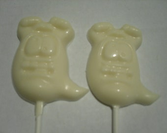 Silly ghost lollipops