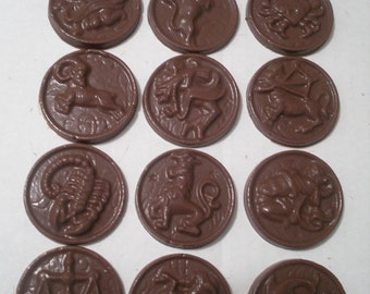 Chocolate Zodiac Medallions