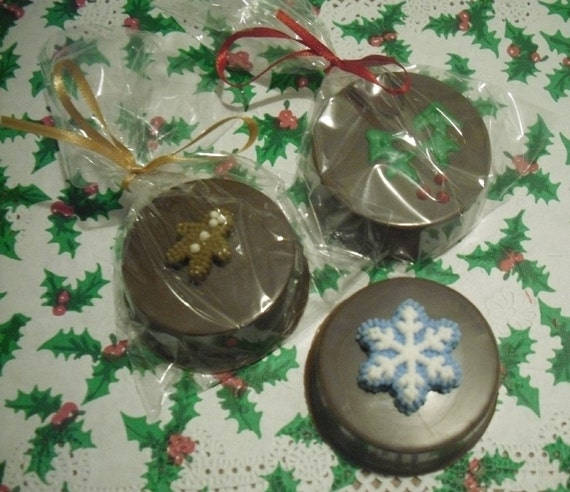 One dozen Christmas Chocolate Covered Oreos