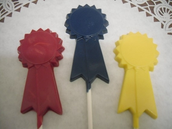 One Dozen Award Ribbon Lollipops