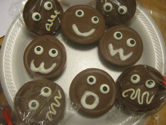Funny Face Chocolate Covered Oreos