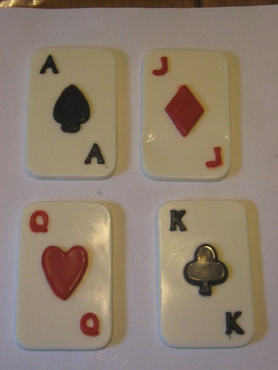 Set of 4 chocolate playing cards