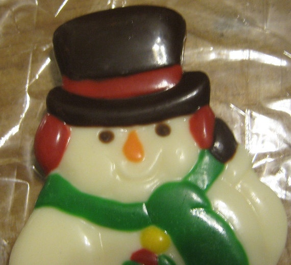 Adorable Solid chocolate snowman