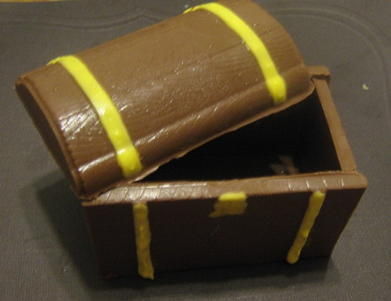 3D Chocolate treasure chest fillable centerpiece or party favor