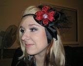 Flower Elegant Night Braided Headband, Hair Accessories, Headband, Gothic Headband