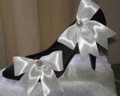 White Rhinestone Shoe Clips, Bridal Accessories, Bridesmaids Chic, Wedding