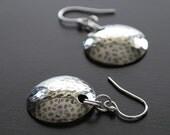 Hammered Sterling Silver Earrings - rachel