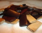 30 Blank BAMBOO TILES for necklaces