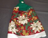Crocheted Kitchen Towel for Christmas