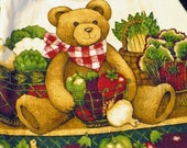 Teddy Bear in the Produce Section Crocheted Kitchen Towel