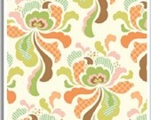 Heather Bailey Fabric - Groovy Orange from Freshcut Collection 1 FAT QUARTER