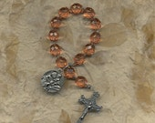 Amber Faceted Glass St Anthony Chaplet