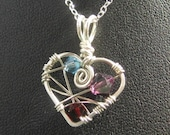 I Heart You - custom pendant for her with love - by Kira Nelson