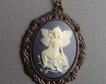 Victorian Fairy Cameo Necklace