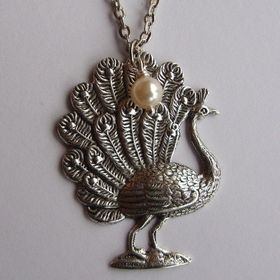Peacock  Silver Plated