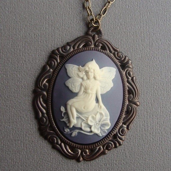 Victorian Fairy Cameo Necklace