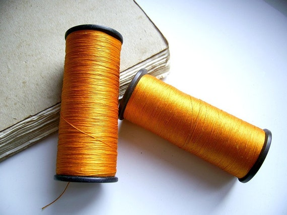 Sunny Orange Silk Embroidery Thread