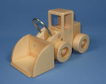 Handcrafted Wooden Toy Front End Loader