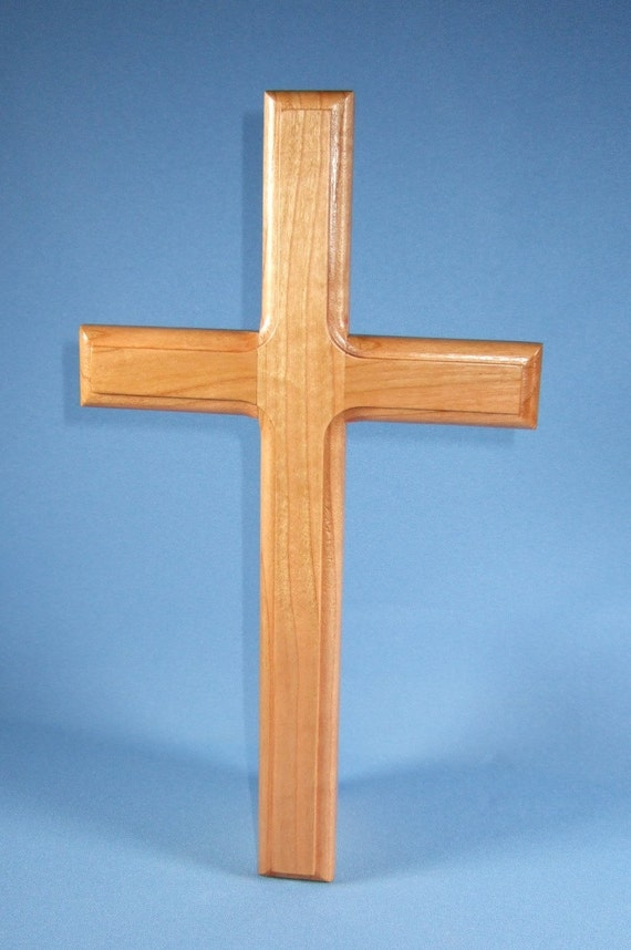 Handcrafted Wooden Wall Cross by WoodcraftingByRobert on Etsy