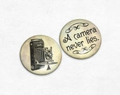 Magnets - Camera Never Lies Magnet Set of 2 - Great for Photographers