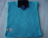 Case turquoise Classic Look  a pretty sleeve for daily use in class or office