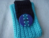 iPhone Case Teal cell mobile mp3 case fun and pretty turquoise bag