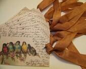 Bird Tags - Italian Post Card - Set of 6