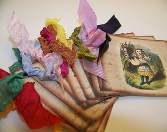 Alice in Wonderland Tags - Set of 12
