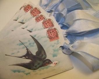 Bird Tags - Set of 6