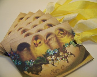 Easter Chick Tags - Set of 6