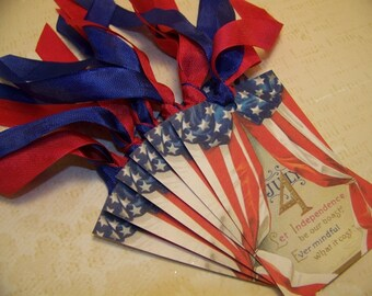 4th of July - Americana - Memorial Day - Patriotic Tags - Set of 6